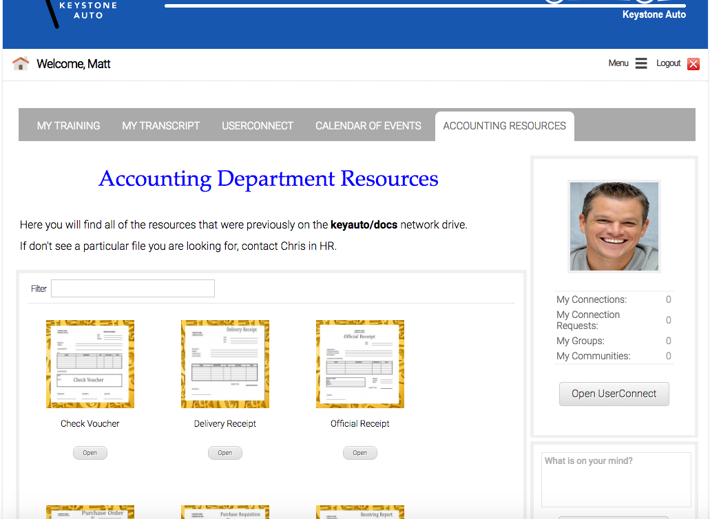accounting axis lms