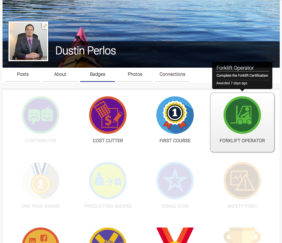 Badges in Axis LMS