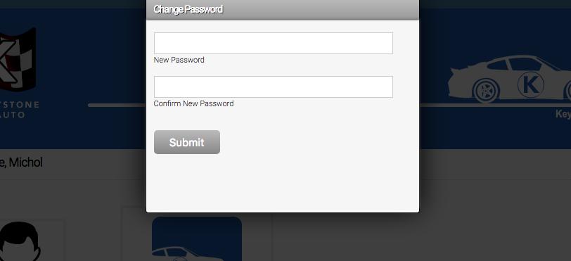 Axis LMS Password Change