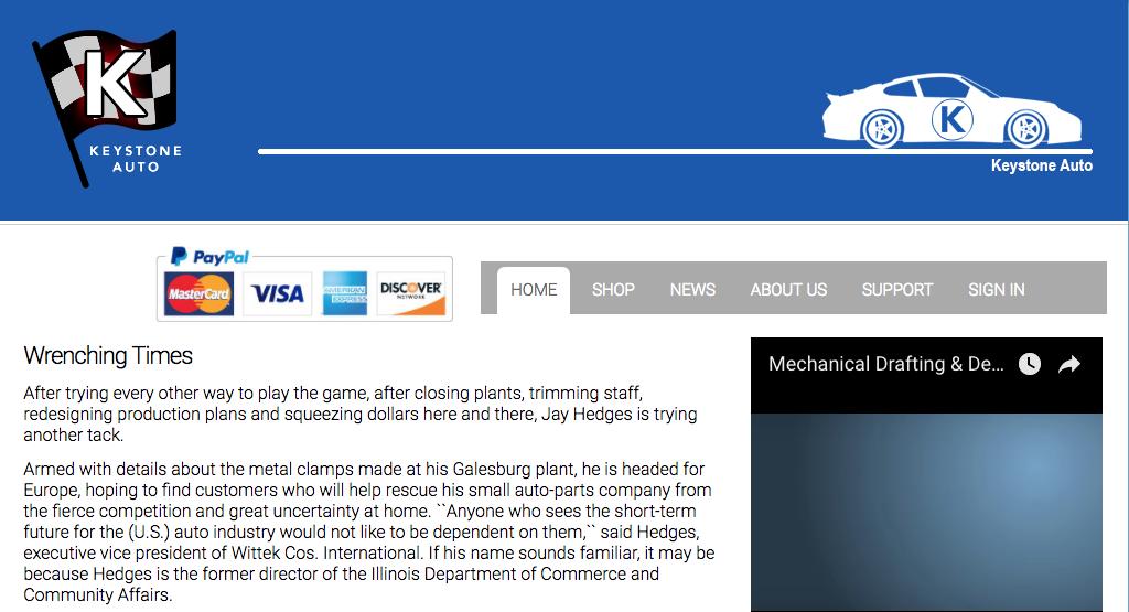 Branding Account Website View