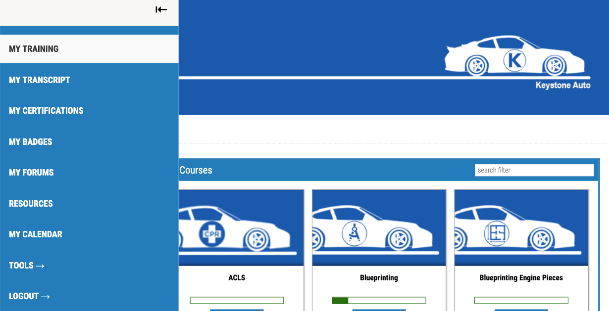 Branding Learning Portal View