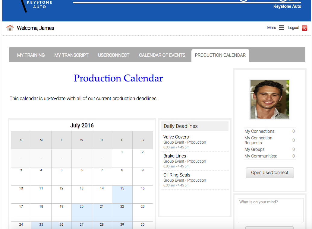 production axis lms