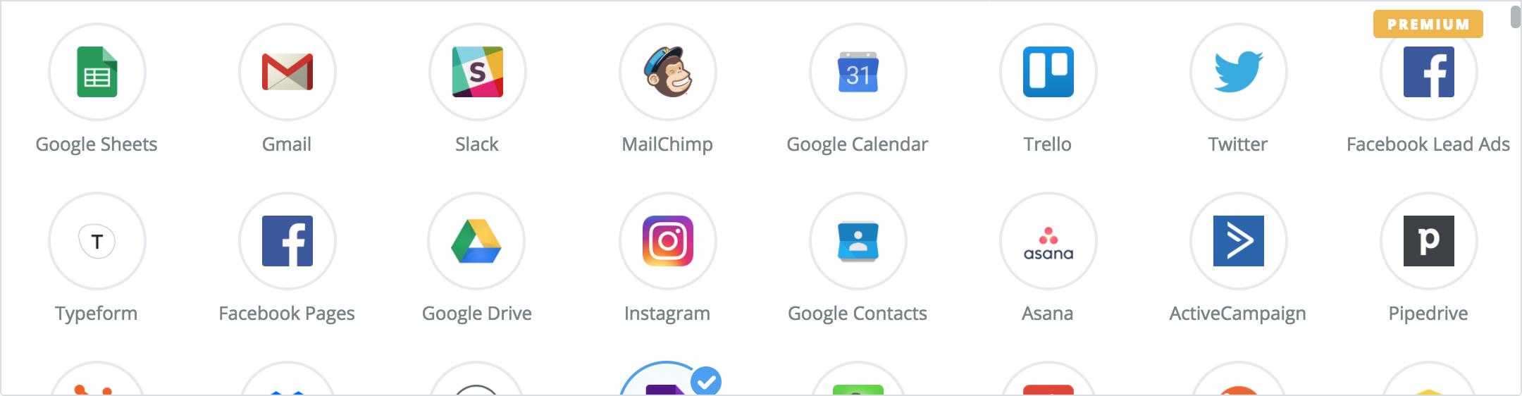 Zapier Popular Apps