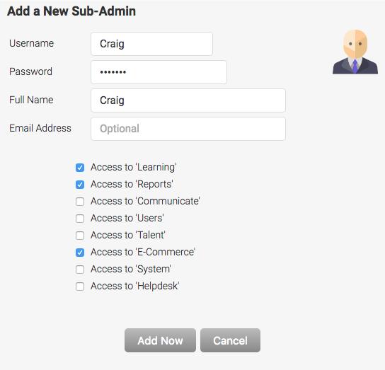 Add Sub Admin
