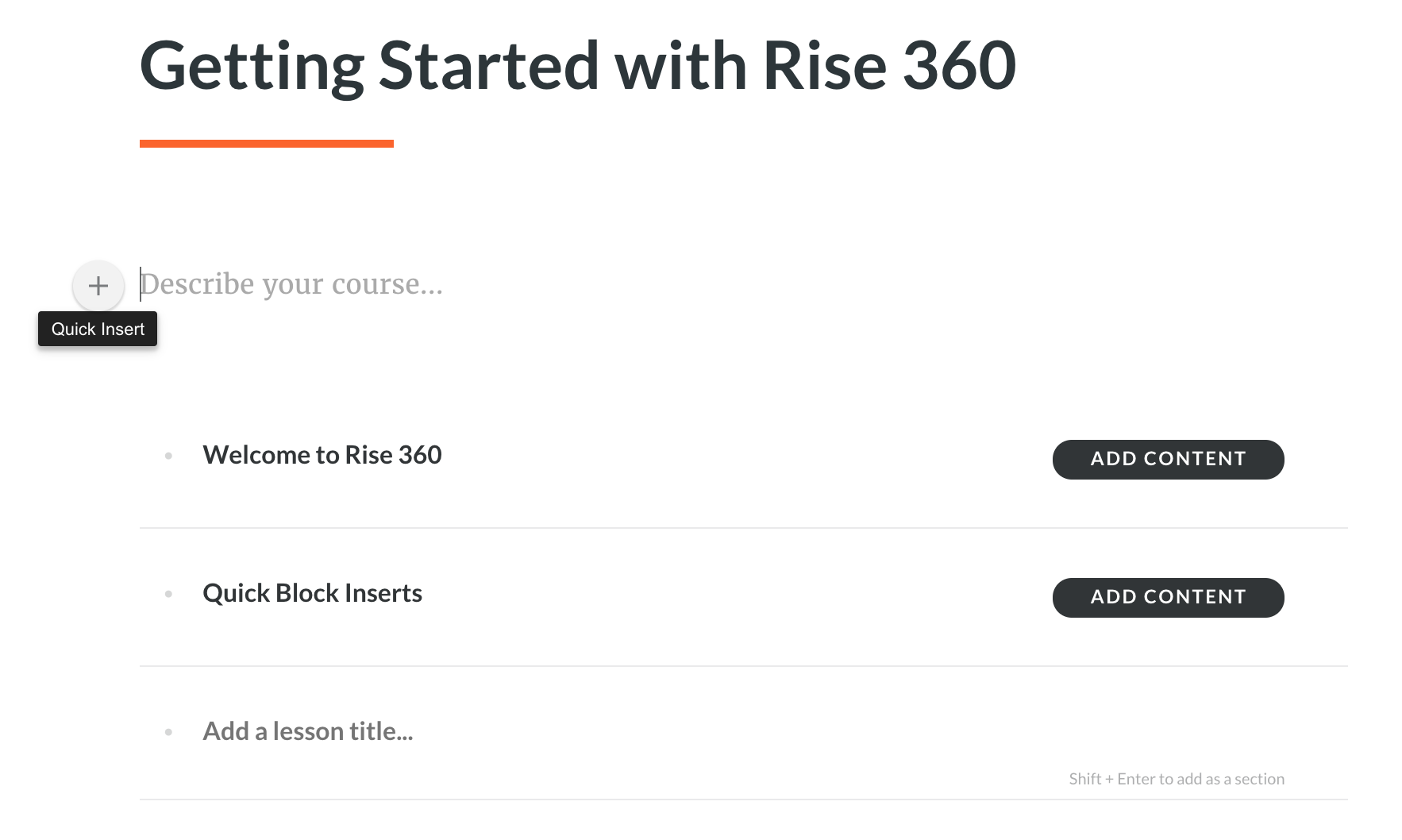 Rise 360 Course Home
