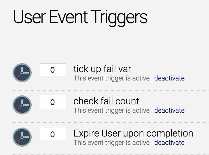 User Event Triggers