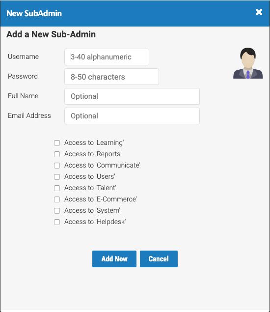 Create Sub-Admin