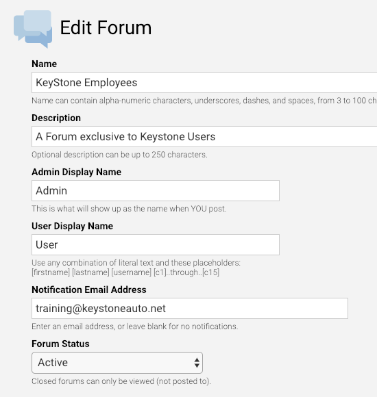 Forums Builder