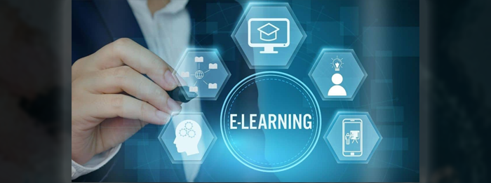 E-Learning for corporate training via a laptop